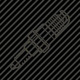 car part, electric, engine, performance, plug, power, spark icon
