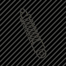 car, car parts, garage, part, spring, suspension, vehicle icon