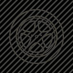 car, part, sport, tuning, vehicle, wheel icon