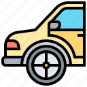 car, fender, parts, spare, vehicle icon