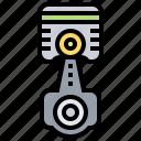engine, gear, mechanic, motor, piston icon