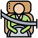 buckle, fasten, protection, safety, seatbelt icon