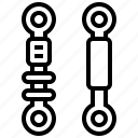 car, damper, parts, repair, suspension icon