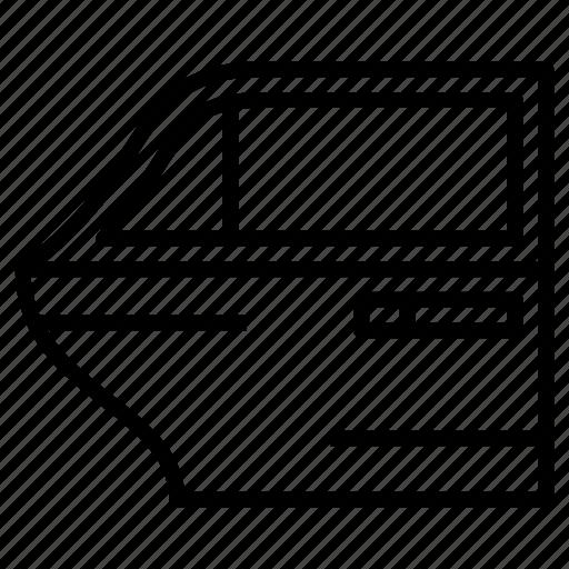 Door, car, vehicle, mirror icon - Download on Iconfinder