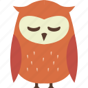 autumn, owl icon
