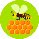active, bee, environment, flowers, honey, insects, nature icon