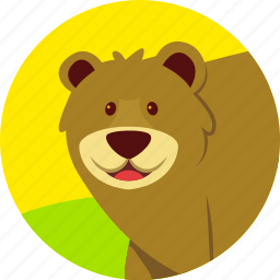 animal, bear, carnivor, forest, strong, wild icon