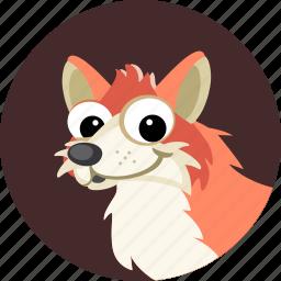 animal, forest, fox, fur, red fox, sly fox, wild icon