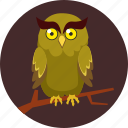 camouflage, howlet, moon, owl, scary, spooky icon