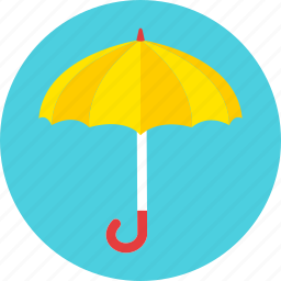 autumn, clouds, protect, rain, storm, umbrella, weather icon
