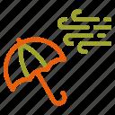air, autumn, fall, umbrella icon