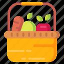 shopping, shop, basket, fruit icon