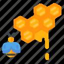 bee, hive, honey, honeycomb icon