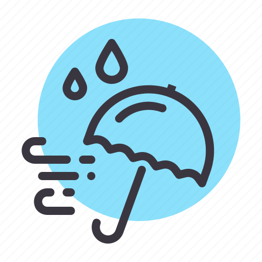 autumn, fall, rain, rainy, season, umbrella, weather icon