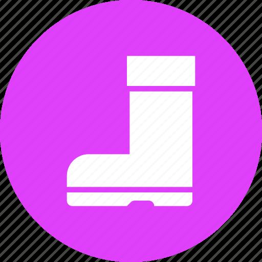 autumn, boot, footwear, rainy, rubber, shoe, winter icon