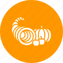 autumn, cornucopia, food, fruits, harvest, plenty, thanksgiving icon
