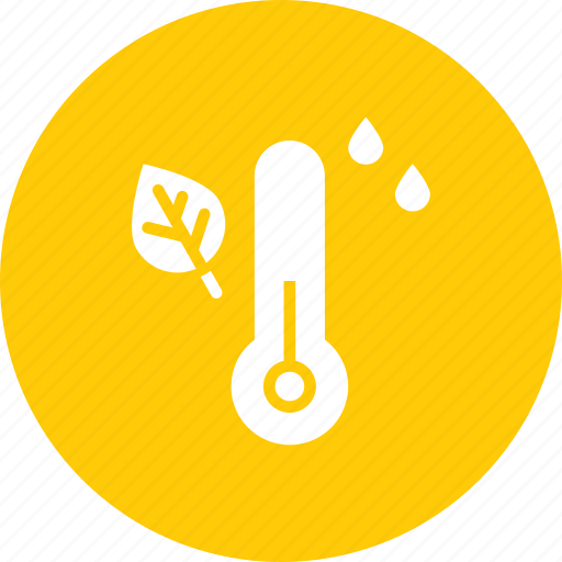 autumn, fall, humidity, measure, rain, temperature, thermometer icon