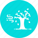 autumn, fall, leaves, season, tree, wind, windy icon