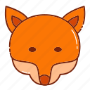 animal, autumn, fox icon