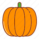 autumn, fall, fruit, halloween, nature, pumpkin icon