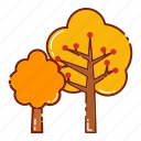 autumn, fall, nature, plant, tree icon