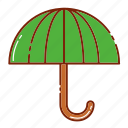 autumn, object, rain, umbrella icon