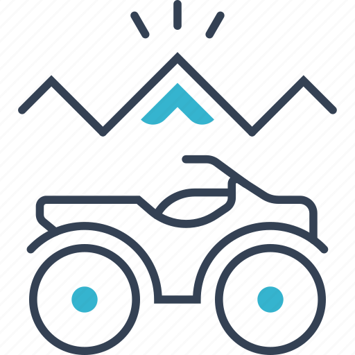 Autumn, mountains, bike icon