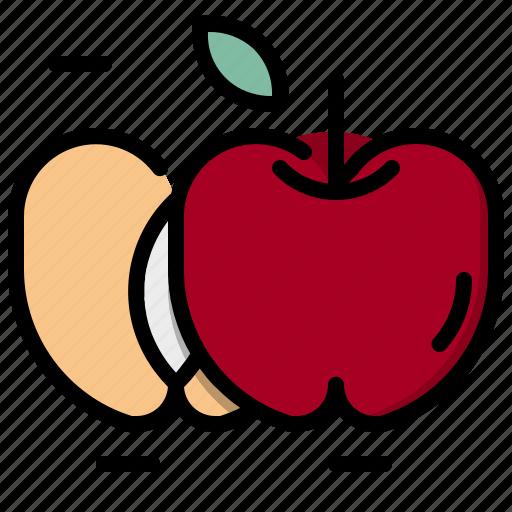apple, food, fruit, healthy, organic, vegetarian icon
