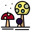 food, fungi, muscaria, mushroom, nature icon