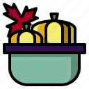 basket, food, fruit, healthy, organic, pumkin, vegetarian icon