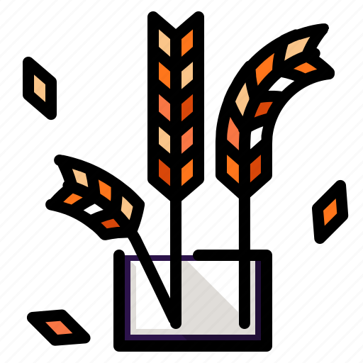 and, farming, gardening, grain, plant, wheat icon