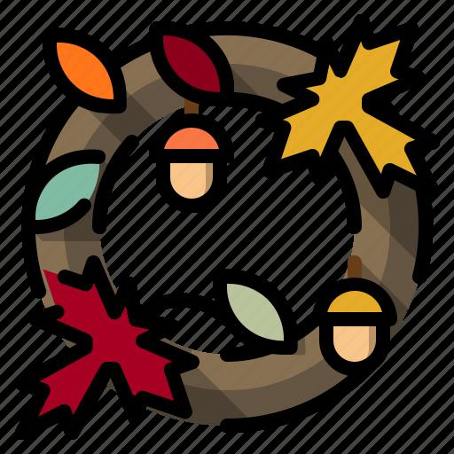 decorations, garland, wreath icon