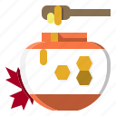 food, healthy, honey, jar, sweet icon