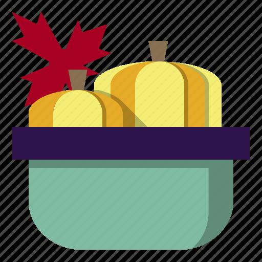 basket, food, fruit, healthy, organic, pumkin, vegetarian icon