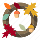 decorations, garland, wreath icon