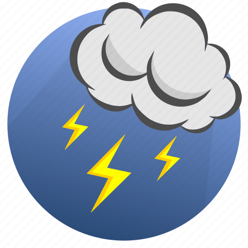 autumn, cloud, clouds, cloudy, lightning, storm, weather icon