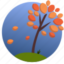 autumn, leaf, leaves, nature, seasons, tree, wind icon