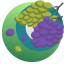 autumn, eating, food, fruit, grapes, plate, sweet icon