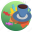 autumn, candies, coffee, cup, food, leaves, plate icon