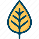autumn, leaf, nature, tree, yellow icon