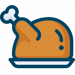 chiken, food, meal, meat, thanksgiving, turkey icon