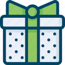 box, gift, green, holiday, present, wrap icon