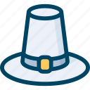 autumn, hat, holiday, pilgrim, thanksgiving icon