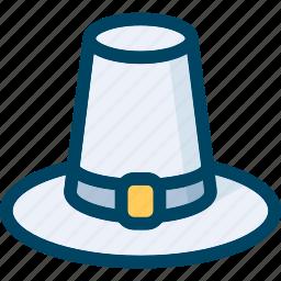 autumn, hat, holiday, pilgrim, thanksgiving icon