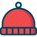 autumn, hat, hipster, red, winter icon