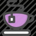 breaks, bubble, cafe, coffee, cup, mug, tea