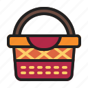 autumn, basket, fall, fruit icon