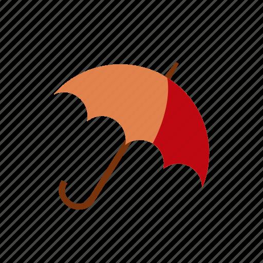 autumn, brown, red, umbrella, winter icon