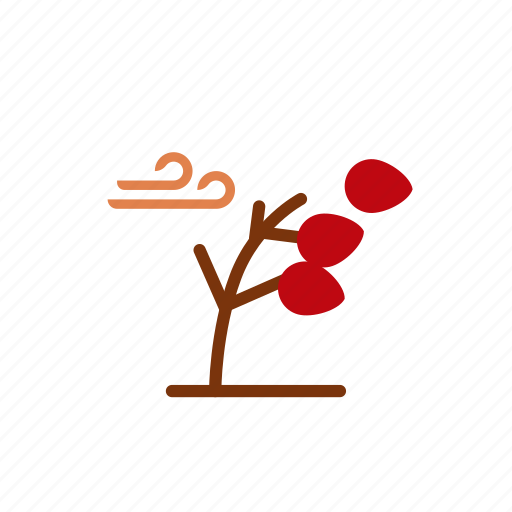 autumn, brown, red, wind, winter icon