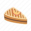 apple, dessert, food, fresh, homemade, pie, slice icon